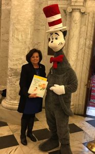 Senator Pamela Beidle (District 32 - Anne Arundel) with the Cat in the Hat